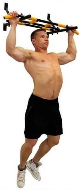 турник брусья пресс 3 в 1 спина грудь плечи руки ноги шея мышцы тела настенный домашний потолочный фото картинка фотография изображение подтягивания чемпион профи атлет мультихват урал три пять хвата перекладина