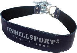 Пояс кожаный с цепью (лифтерский) ONHILLSPORT, 85 см, синий
