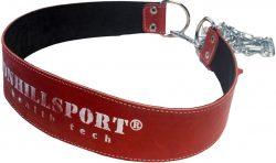 Пояс кожаный с цепью (лифтерский) ONHILLSPORT, 100 см, красный