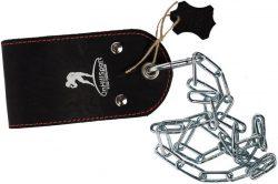 Ремешок кожаный ONHILLSPORT для отягощения на пояс, черный