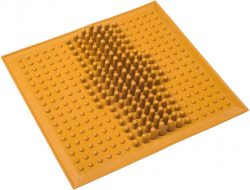 Коврик массажный от плоскостопия ONHILLSPORT, (26*26 см), желтый