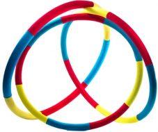 """Массажный """"Обруч Здоровья"""" ONHILLSPORT, 800мм, вес 3,0кг, красно-желто-бирюзовый"""