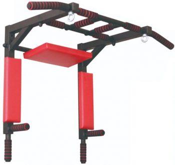 Турник-Брусья-Пресс 3в1 усиленный Axioma 40×40, цвет черно-красный