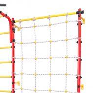 Сетка с креплением к детской шведской стенке Axioma, красная