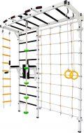 Шведская стенка Рукоход №8 с брусьями, лестницей, канатом, кольцами, белая