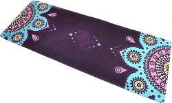Коврик для йоги Onhillsport замшевый с мандалой, фиолетовый