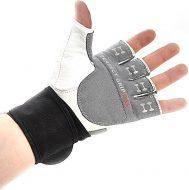 Перчатки для фитнеса Onhillsport Q10, мужские с фиксатором, кожа, размер m