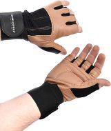 Перчатки для фитнеса Onhillsport Q11, мужские с фиксатором, кожа, размер l