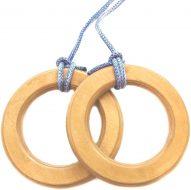 Гимнастические кольца Зубрава, деревянные