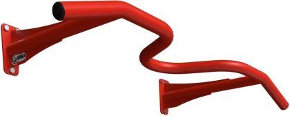 Турник настенный 3 хвата Gorilla gym, цвет красный