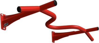 Турник настенный 4 хвата Gorilla gym, цвет красный
