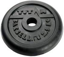 Диск TITAN чугун обрезиненный, 26 мм, 2,5кг