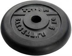 Диск TITAN чугун обрезиненный, 26 мм, 5кг