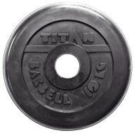 Диск TITAN-PROFY чугун обрезиненный 51мм., стальная втулка, 10кг.