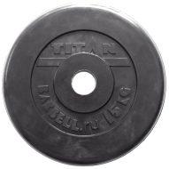 Диск TITAN-PROFY чугун обрезиненный 51мм., стальная втулка, 15кг.