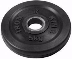Диск Iron King Евро-Классик, стальная втулка, 51 мм, 5кг.