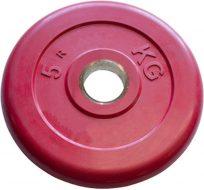 Диск Iron King Евро-Классик, стальная втулка, 51 мм, 5кг., цветной