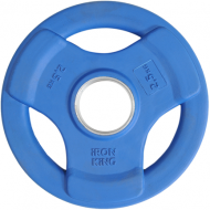 Диск SATURN, чугун, резина, стальная втулка, 51 мм, 2,5кг., синий