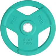 Диск SATURN, чугун, резина, стальная втулка, 51 мм, 10кг., зеленый