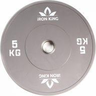 Диск Iron King для crossfit, резина, стальная втулка, 51 мм, 5кг., серый
