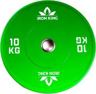 Диск Iron King для crossfit, резина, стальная втулка, 51 мм, 10кг., зеленый