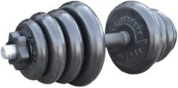 Гантель Iron King наборная 26мм, чугун/резина, вес 24кг.