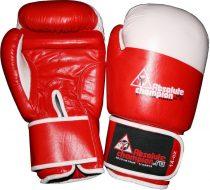 Перчатки боксерские кожаные Absolute Champion, красные, 8 унц.