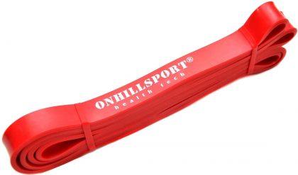 Резиновая петля для фитнеса Onhillsport, красная 6-24 кг.