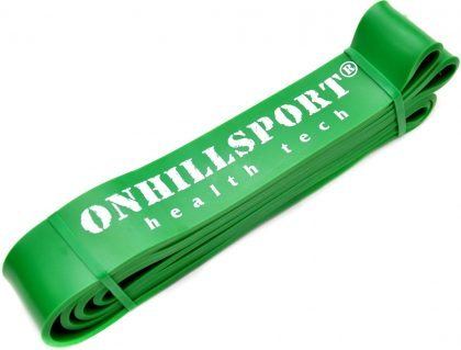 Резиновая петля для фитнеса Onhillsport, зеленая 19-56кг.