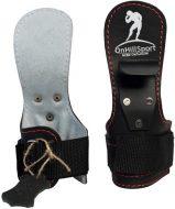 Крюки для турника и тяги Onhillsport кожаные, черные