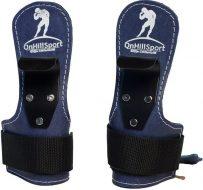 Крюки для турника и тяги Onhillsport кожаные, синие