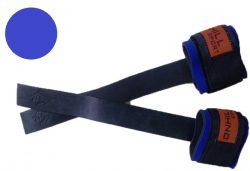 Лямки штангиста Onhillsport с фиксатором, кожаные, синие
