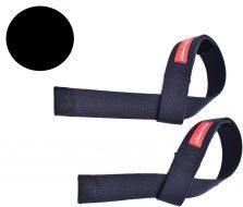 Лямки штангиста Onhillsport тканевые с подкладкой х/б стропа, черные