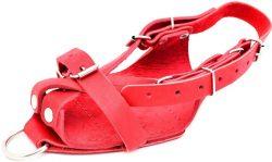 Сандаль для тяги Onhillsport кожаный, красная